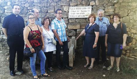Durant l'homenatge a Rossend Llurba es va inaugurar una placa en una pineda amb el seu nom.