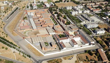 Vista aèria de la presó de Lleida.