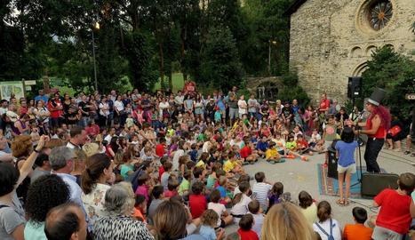 Una de les activitats de dissabte a la fira Ambruixa't de Ribera de Cardós.