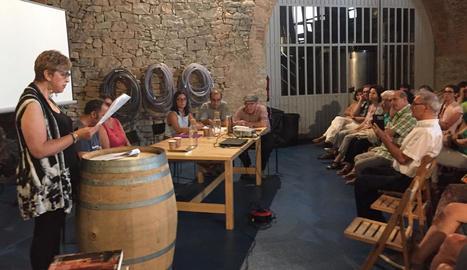 Un moment de la presentació de la novel·la 'El silenci de Vallbona'.