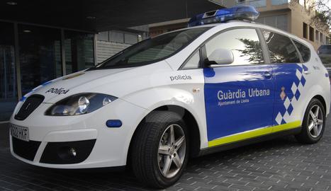 Un vehicle de la Guàrdia Urbana de Lleida.