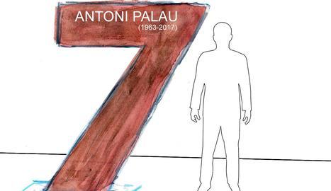 El Lleida dedicarà una estàtua en forma de 7 a Antoni Palau