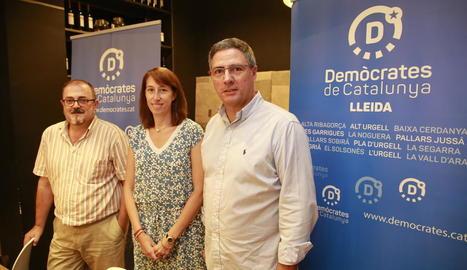 Pep Tort, Assumpció Laïlla i Jordi Souto.