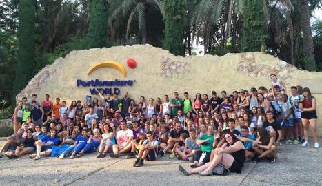 Els joves participants en l'experiència.