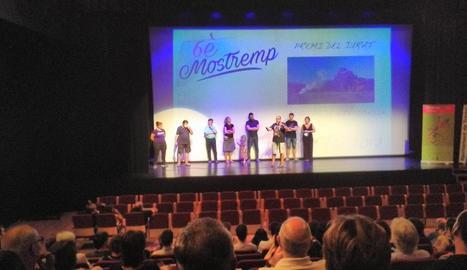 Cloenda i entrega de premis del festival Mostremp, ahir al complex cultural La Lira de Tremp.