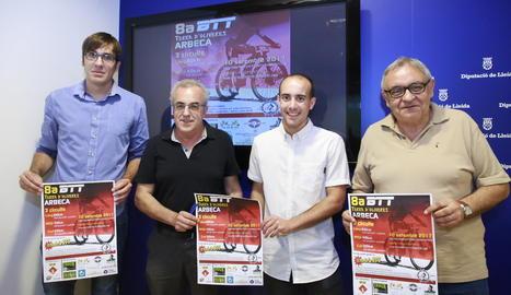L'acte de presentació de la vuitena edició de la Cursa BTT Terra d'Oliveres d'Arbeca.