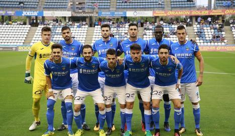 Formació inicial del Lleida en el partit de diumenge passat davant del Deportivo Aragón.
