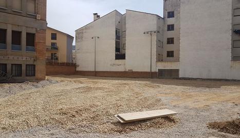 Treballs d'ampliació d'aules a l'Escola d'Hostaleria.