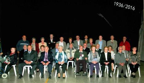 Imatge d'arxiu de l'acte d'homenatge a les persones de 80 anys de l'any passat.
