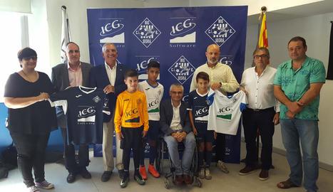 L'acord de patrocini d'ICG amb el CE Mig Segrià es va presentar ahir a Torrefarrera.