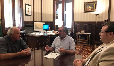 Semino, Reñé i Sabarich, en la trobada de dimecres.