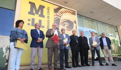La roda de premsa posterior a la reunió del consorci del Museu de Lleida.