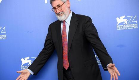 El director nord-americà John Landis, ahir a Venècia.