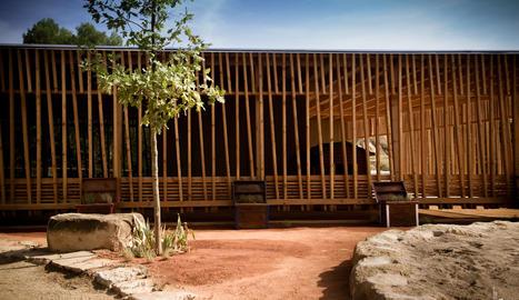 Una imatge del procés de construcció de la llar d'infants L'Era.