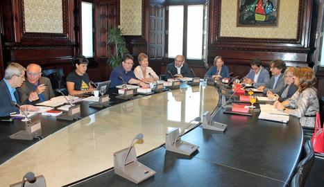 La reunió de la Mesa del Parlament de Catalunya aquest dimarts.