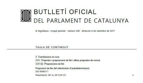 DOCUMENT. Proposició de llei del referèndum
