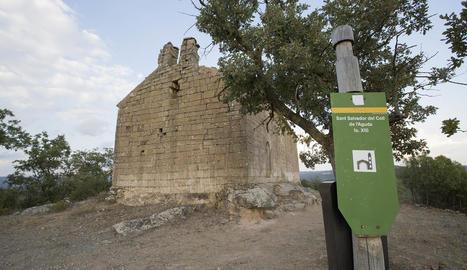 El temple romànic de Sant Salvador del Coll.