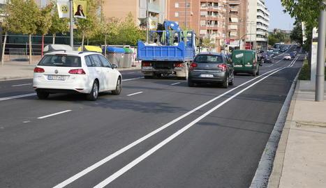 Senyalitzat el carril bici de l'avinguda Estudi General