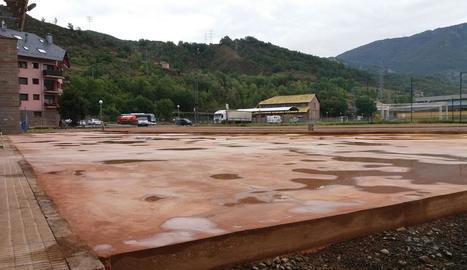 La plataforma on es col·locaran els diferents mòduls de skate.