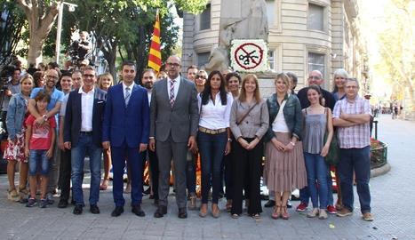 Representants de l'Associació Catalana de Municipis i Comarques.