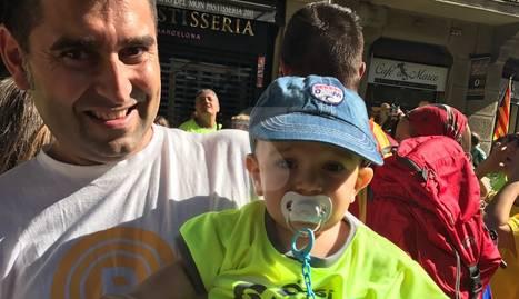 L'Ernest, de 7 mesos, de ciutadilla, a la manifestació de Barcelona