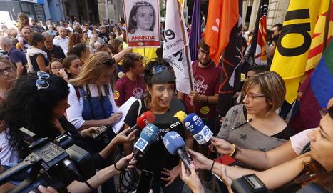La manifestació de l'esquerra independentista a Lleida.