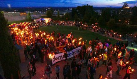Recull d'imatges dels actes de la Diada de Catalunya a les comarques lleidatanes