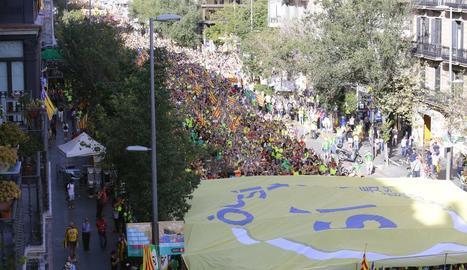 Mobilització sobiranista a Barcelona