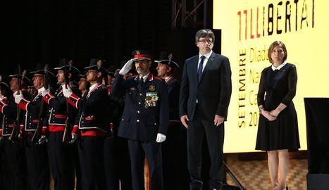 Puigdemont presidint l'acte oficial de la Diada.