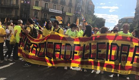 Gent de Sarroca de Lleida a la manifestació a Barcelona