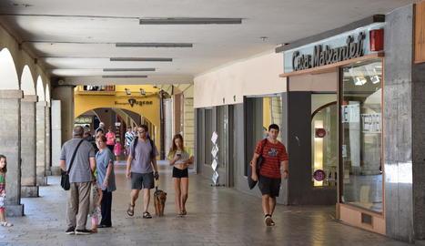 El centre comercial de la Seu d'Urgell.