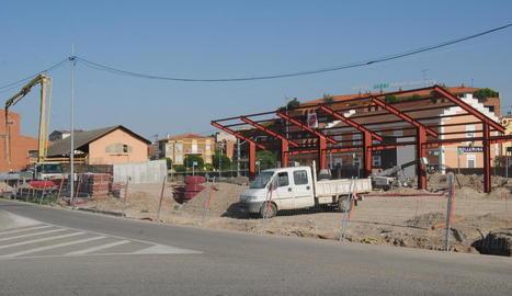 Obres a la nova estació d'autobusos.