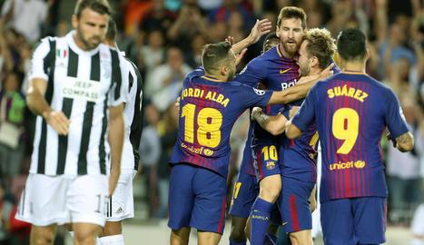 Messi va firmar una nova exhibició amb doblet davant del subcampió d'Europa.