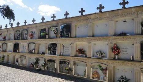 El consistori amplia la zona de nínxols del cementiri.