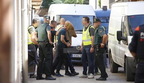 Un dels detinguts en l'operació antidroga de Juneda.