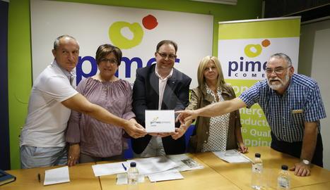 La roda de premsa de Pimec