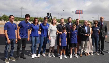 Imatge virtual de com serà l'estadi Johan Cruyff, on jugaran el Barça B i l'equip femení.