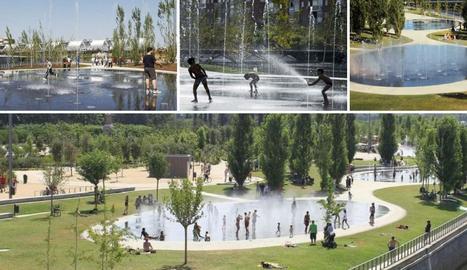 Imatge virtual de les làmines d'aigua a les antigues piscines