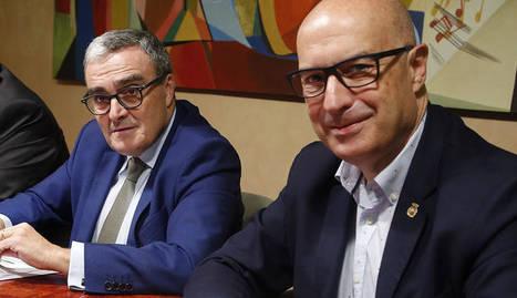 Albert Sorribas, Àngel Ros i Rafael Peris van presentar el projecte Inno4agro, subvencionat per la UE.