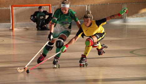 La qualitat de les jugadores del Pla d'Urgell va acabar decidint el partit.