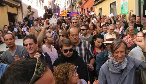 Centenares de persones defensen a Madrid el dret a decidir dels catalans