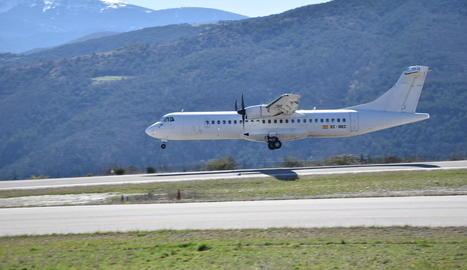 Un avió de Swiftair va fer la simulació de vols GPS al març.
