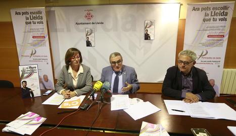 Ribes, Ros i Gómez, durant la presentació dels resultats.