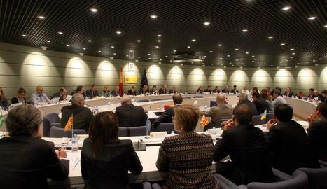 Imatge de la reunió sectorial d'Ocupació feta ahir a Madrid.