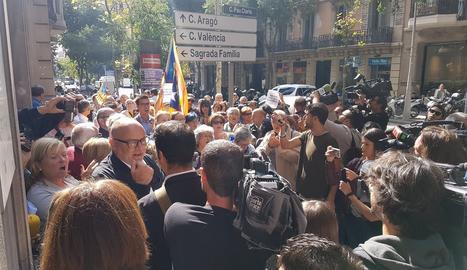 L'exterior de la Fiscalia de Barcelona.