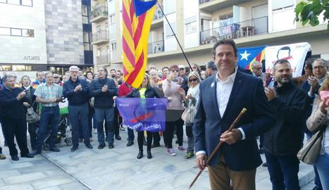 Miquel Sala, abans de declarar als jutjats de la Seu d'Urgell.
