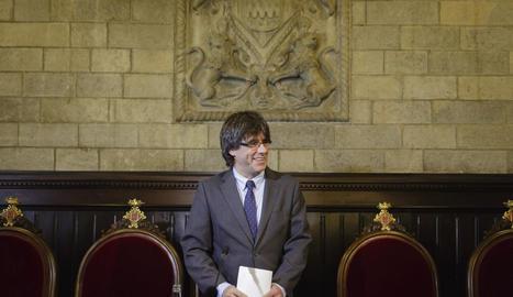 El president de la Generalitat i exalcalde de Girona, Carles Puigdemont,