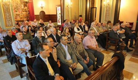 El saló de plens va acollir ahir el tradicional acte de firma dels convenis amb les entitats.