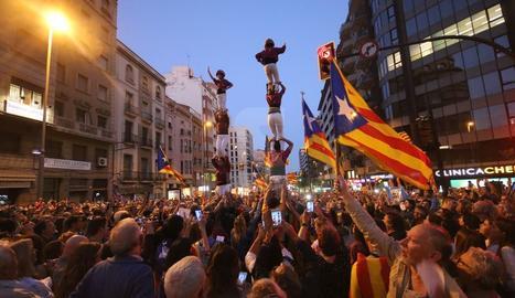 Concentración en la avenida Catalunya de Lleida