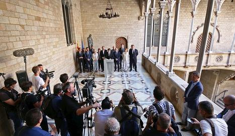 La compareixença de Puigdemont a la sala